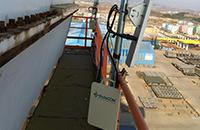 某港口港机设备工作状态数据无线实时回传